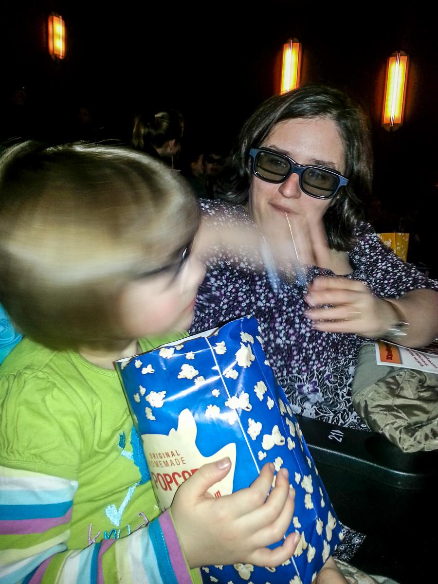 Popcorn im 3D Kino