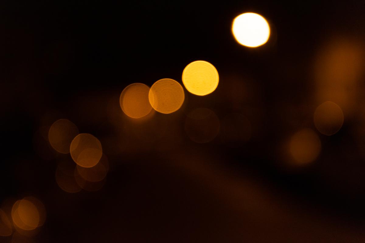 Lichtpunkte in der Nacht