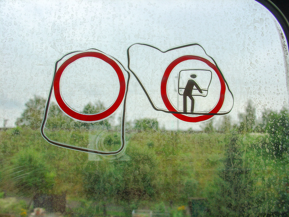 Flüchtende Pictogramme